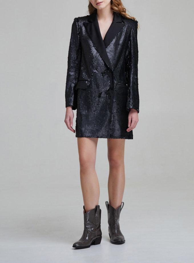 Платье жакет с пайетками SAYYA _FW 847, фото 1 - в интернет магазине KAPSULA