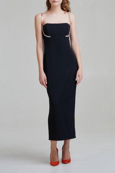 Платье на корсетной основе с камнями SAYYA _FW951-1, фото 2 - в интеренет магазине KAPSULA