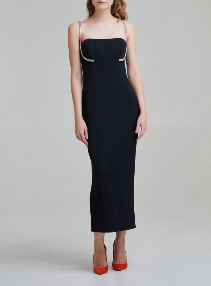 Платье на корсетной основе с камнями SAYYA _FW951-1, фото 1 - в интернет магазине KAPSULA