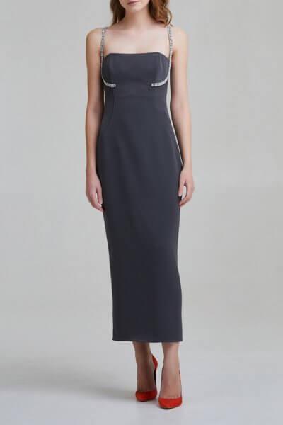 Платье на корсетной основе с камнями SAYYA _FW951, фото 1 - в интеренет магазине KAPSULA
