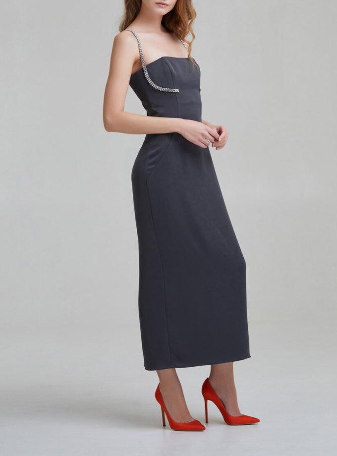 Платье на корсетной основе с камнями SAYYA _FW951, фото 1 - в интернет магазине KAPSULA