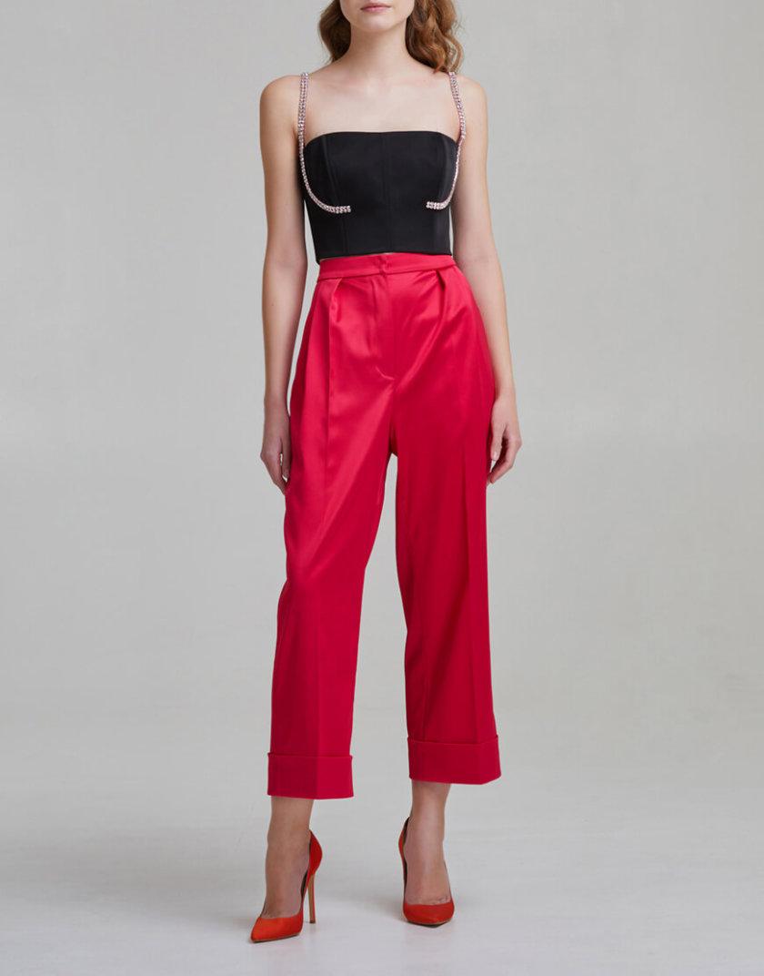 Укороченные брюки на высокой посадке SAYYA _FW953-1, фото 1 - в интернет магазине KAPSULA
