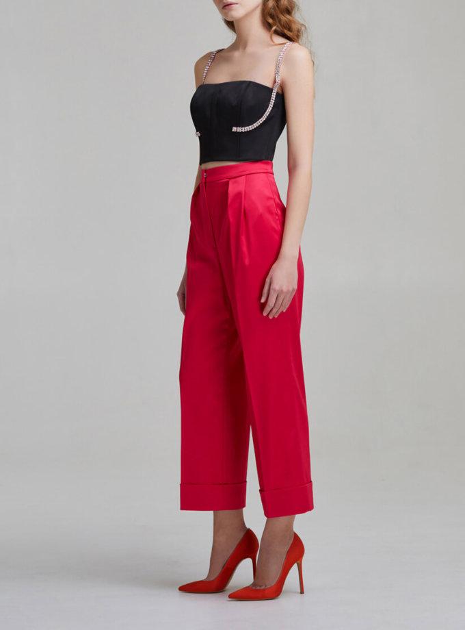 Укороченные брюки на высокой посадке SAYYA _FW953-1, фото 1 - в интеренет магазине KAPSULA