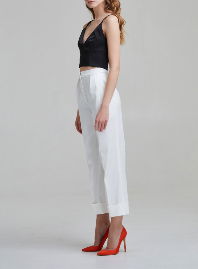 Укороченные брюки на высокой посадке SAYYA _FW953, фото 1 - в интеренет магазине KAPSULA