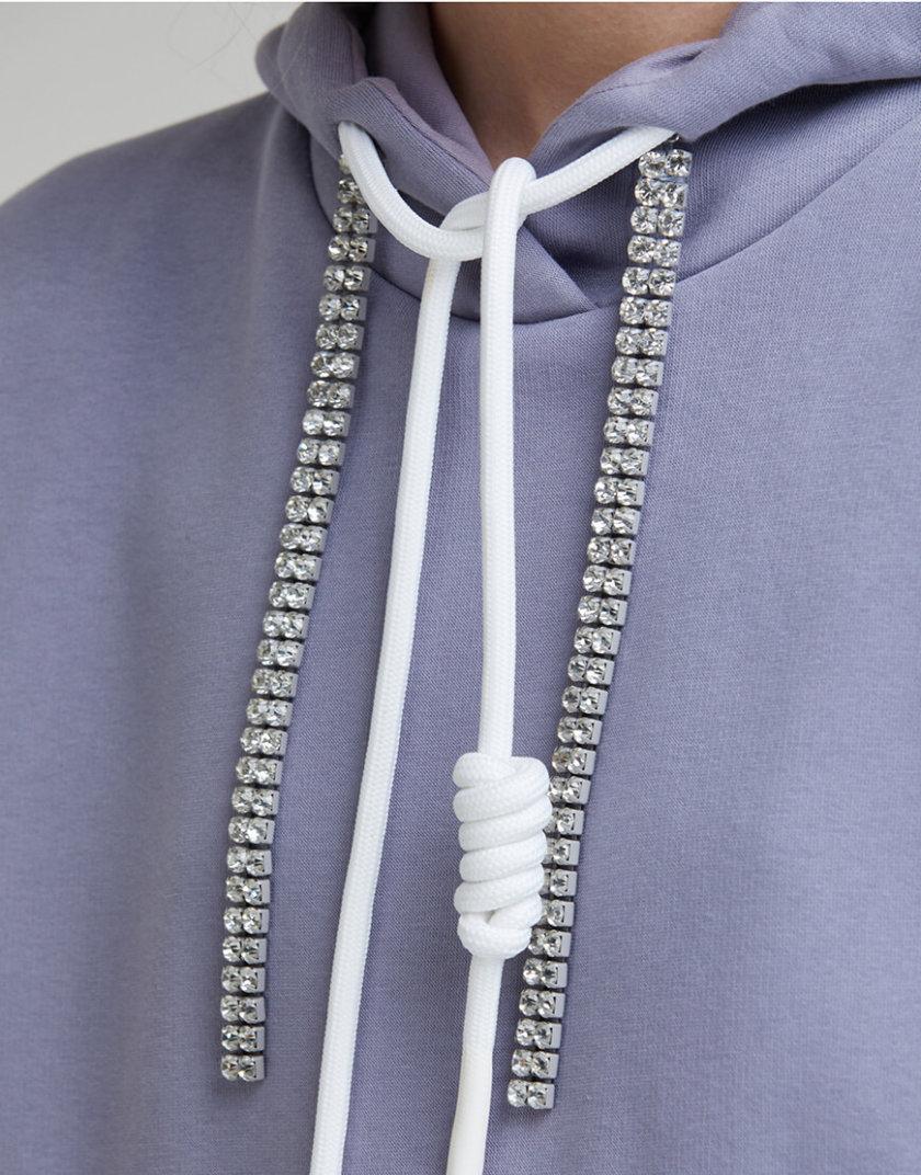 Удлиненный худи с принтом SAYYA _FW956-2, фото 1 - в интернет магазине KAPSULA
