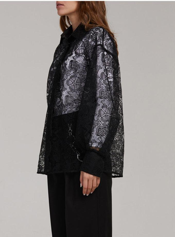Хлопковая блуза из кружева SAYYA_fw923-1, фото 1 - в интернет магазине KAPSULA