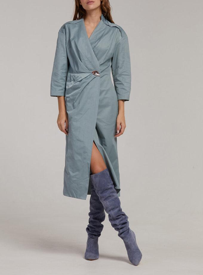 Хлопковое платье на запах SAYYA_fw935-2, фото 1 - в интеренет магазине KAPSULA