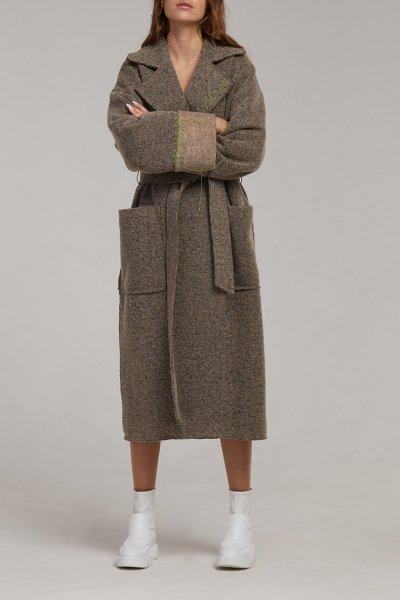 Пальто на запах из шерсти SAYYA_fw949, фото 9 - в интеренет магазине KAPSULA