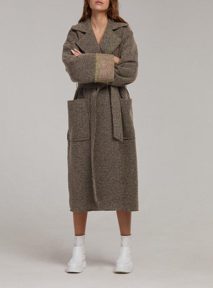 Пальто на запах из шерсти SAYYA_fw949, фото 1 - в интернет магазине KAPSULA