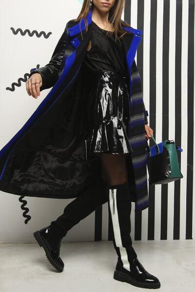 Зимнее пальто из шерсти и эко-кожи TBC_19069w_2025, фото 1 - в интеренет магазине KAPSULA
