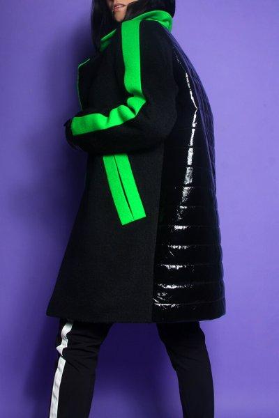 Утепленное пальто из мохера с лаковой спинкой TBC_19072w_2519, фото 6 - в интеренет магазине KAPSULA