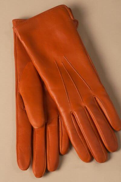 Зимние кожаные перчатки до запястья TOBE_сl_03_or_wl, фото 1 - в интеренет магазине KAPSULA