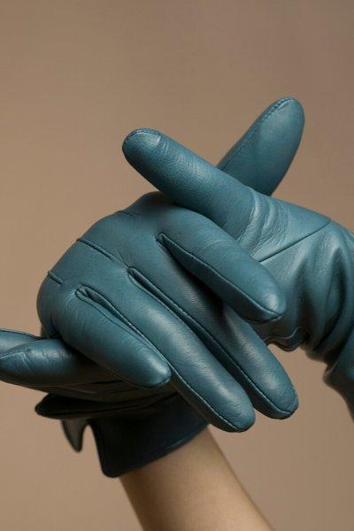 Зимние кожаные перчатки до запястья TOBE_cl_03_bl_wl, фото 1 - в интеренет магазине KAPSULA