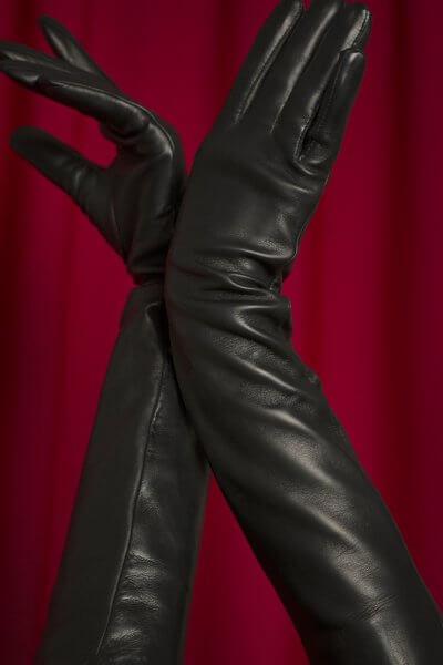 Перчатки до локтя из кожи TOBE_lg_07_bl_sl, фото 1 - в интеренет магазине KAPSULA