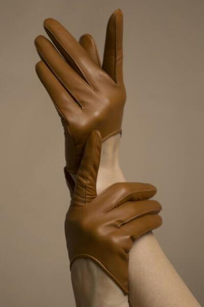 Перчатки короткие из кожи TOBE_sh_33_br_00, фото 1 - в интеренет магазине KAPSULA