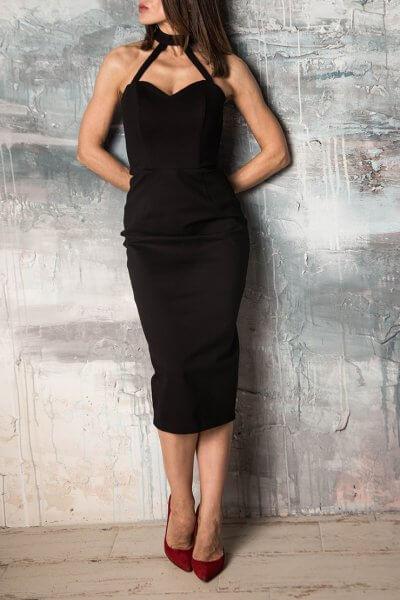 Платье миди со змейкой UCO_КА_0044, фото 1 - в интеренет магазине KAPSULA