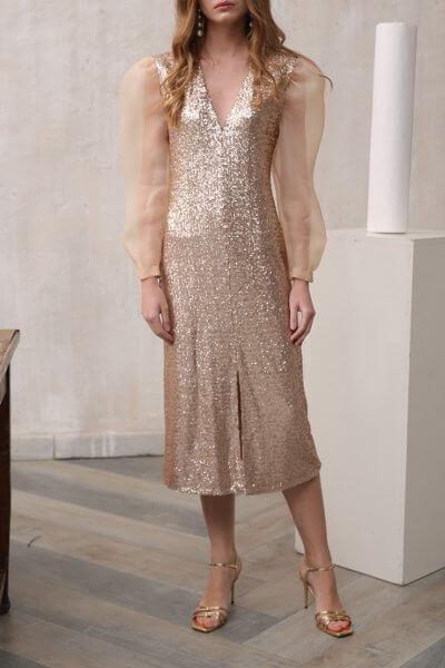 Платье с разрезом спереди VONA_FW-18-19-62, фото 1 - в интеренет магазине KAPSULA