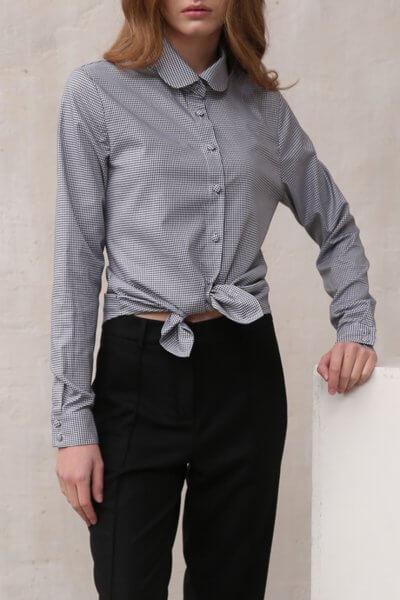 Блуза в гусиную лапку VONA_FW-19-20-109, фото 1 - в интеренет магазине KAPSULA