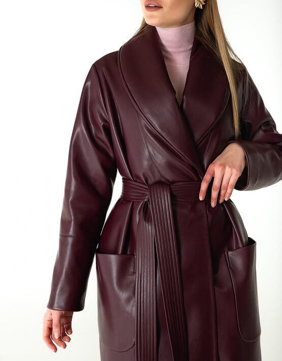 Утеплённое пальто из эко-кожи WNDR_Fw1920_elb_10, фото 5 - в интеренет магазине KAPSULA