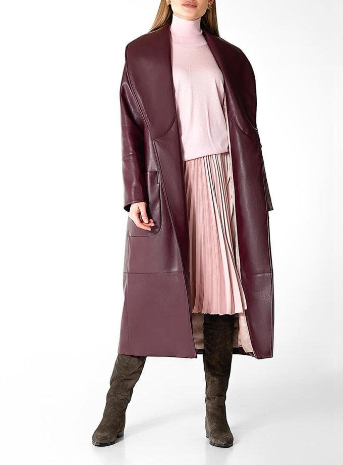 Утеплённое пальто из эко-кожи WNDR_Fw1920_elb_10, фото 1 - в интеренет магазине KAPSULA
