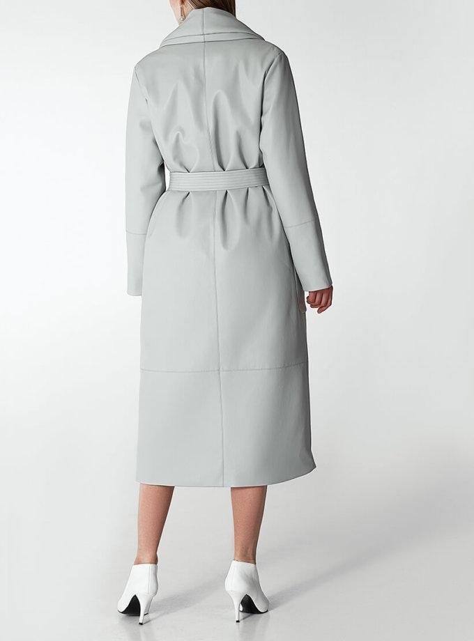 Утеплённое пальто из эко-кожи WNDR_Fw1920_elgr_10, фото 1 - в интернет магазине KAPSULA
