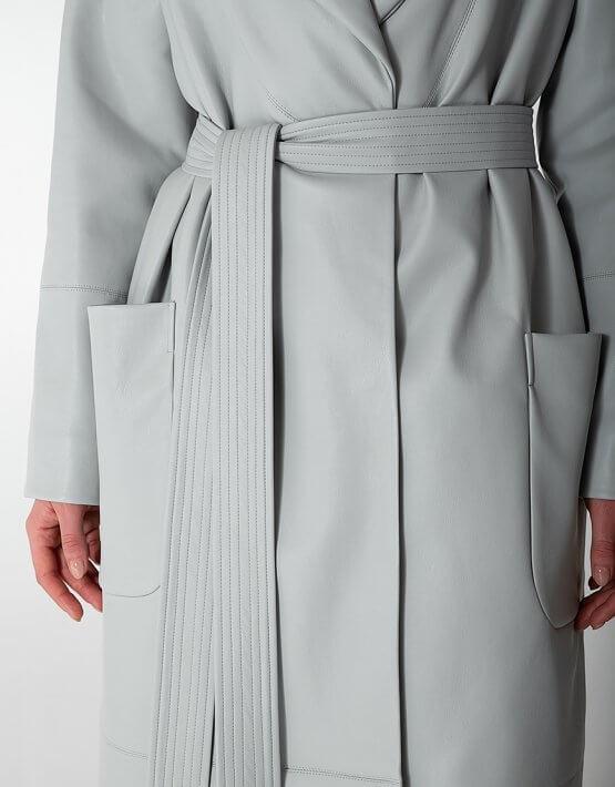 Утеплённое пальто из эко-кожи WNDR_Fw1920_elgr_10, фото 4 - в интеренет магазине KAPSULA