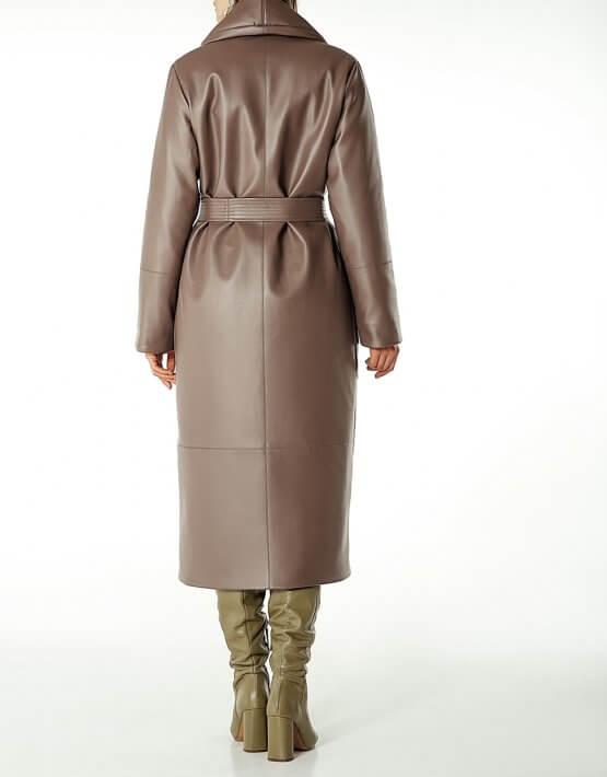 Утеплённое пальто из эко-кожи WNDR_Fw1920_elk_10, фото 6 - в интеренет магазине KAPSULA