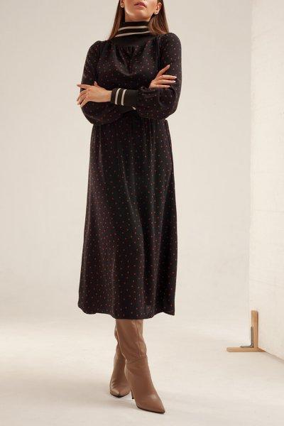 Платье миди в горох XM_basic14, фото 2 - в интеренет магазине KAPSULA
