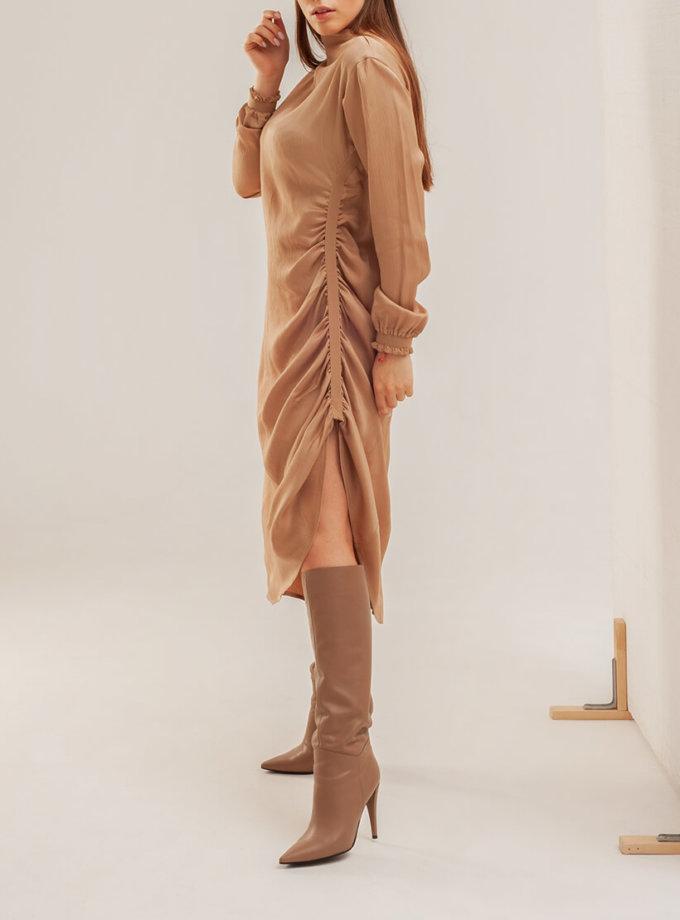 Платье миди со сборками XM_basic15, фото 1 - в интеренет магазине KAPSULA