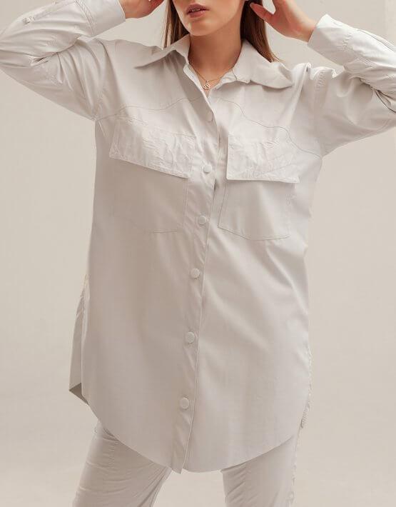 Рубашка из эко-кожи XM_basic3, фото 3 - в интеренет магазине KAPSULA