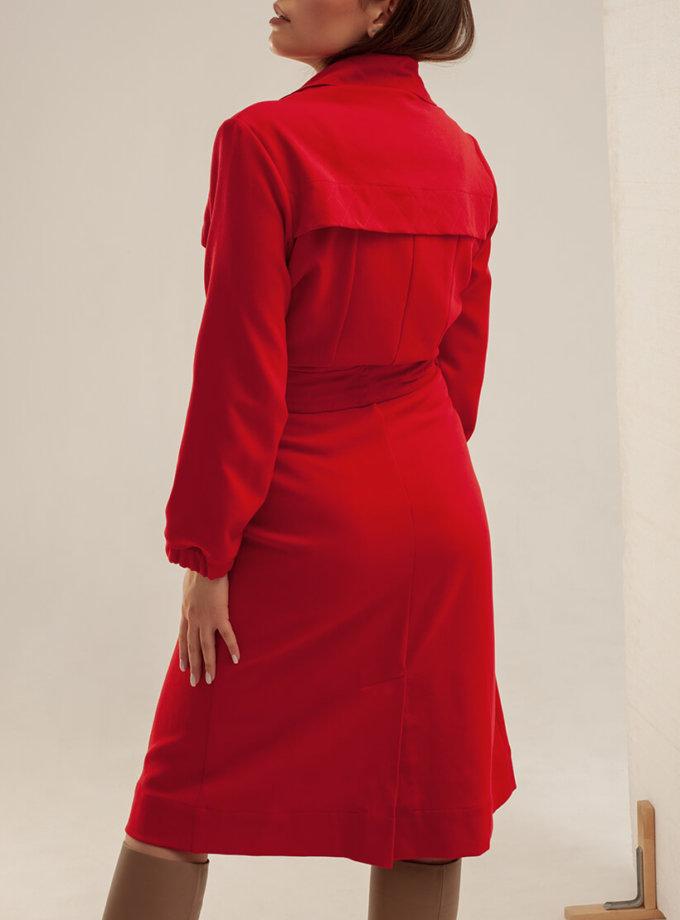 Хлопковое платье-тренч с поясом XM_basic9, фото 1 - в интеренет магазине KAPSULA