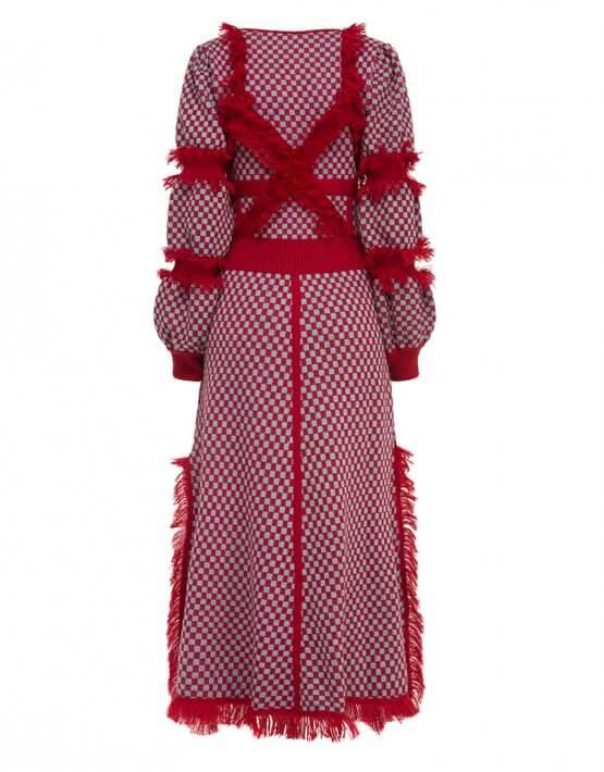 Платье из шерсти с бахромой YCHRV_232, фото 2 - в интеренет магазине KAPSULA