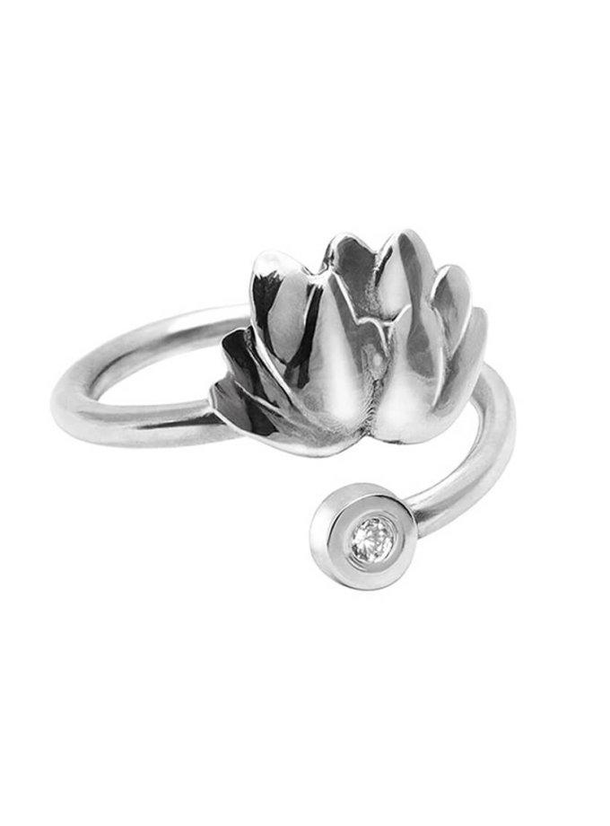 Серебряное кольцо на фалангу лотос YSB_К-791-2, фото 1 - в интеренет магазине KAPSULA