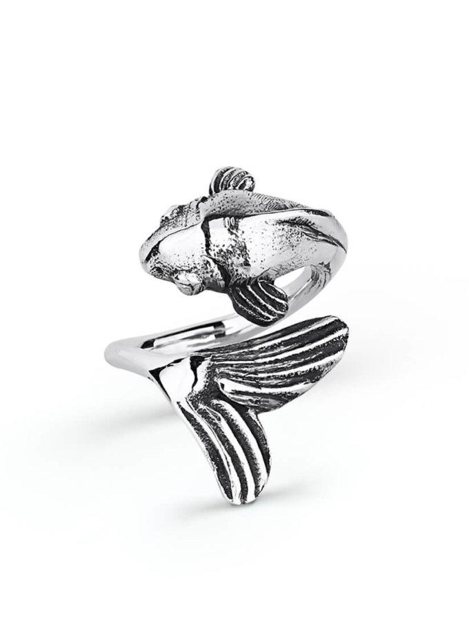 Серебряное кольцо на фалангу с чернением YSB_К-791-7CH, фото 1 - в интеренет магазине KAPSULA