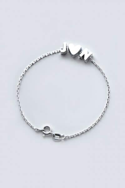 Серебряный браслет three letters YSB_Br-P-7015-3, фото 1 - в интеренет магазине KAPSULA