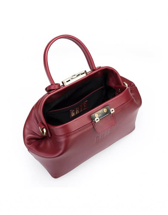 Кожаная сумка-саквояж GRIE Noble GR_BC_NBL_P_BURG, фото 5 - в интеренет магазине KAPSULA