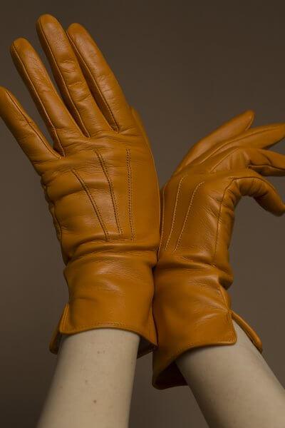 Кожаные перчатки на подкладе TOBE_сl_03_or_sl, фото 1 - в интеренет магазине KAPSULA