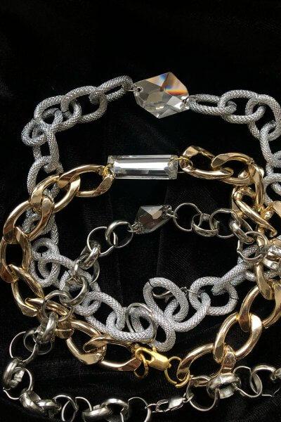 Чокер с кристалом Swarovski GDV_Chain_with_crystal, фото 1 - в интеренет магазине KAPSULA