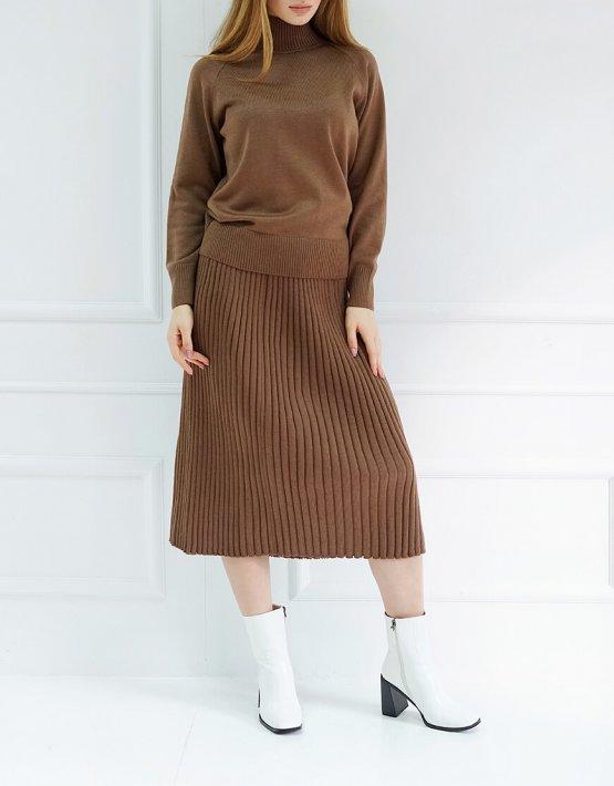 Трикотажный костюм с юбкой CHMSP_CS_18271, фото 2 - в интеренет магазине KAPSULA