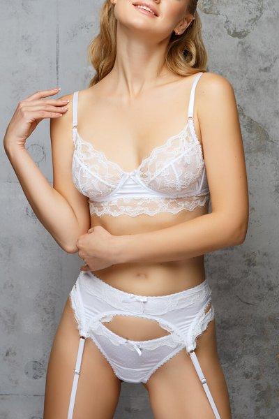 Белый кружевной бюстгальтер Felicita DONT_14033, фото 1 - в интеренет магазине KAPSULA