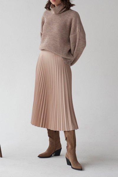Плиссированная юбка миди FRBC_01-UPL, фото 5 - в интеренет магазине KAPSULA
