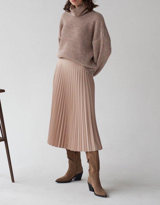 Плиссированная юбка миди FRBC_01-UPL, фото 2 - в интеренет магазине KAPSULA
