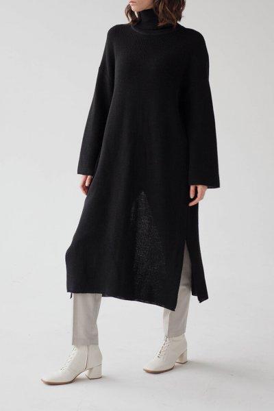 Платье-свитер с разрезом сзади FRBC_09-PS, фото 1 - в интеренет магазине KAPSULA