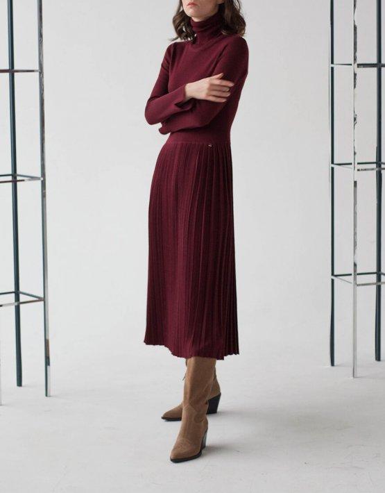 Платье-гольф с юбкой плиссе NBL_09-PSHPL, фото 2 - в интеренет магазине KAPSULA