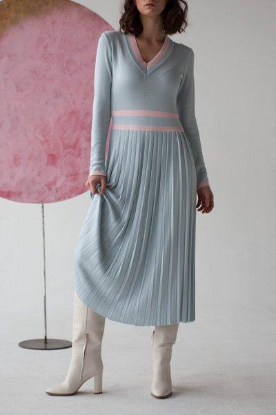 Платье плиссе из трикотажа NBL_09-PTVP, фото 1 - в интеренет магазине KAPSULA