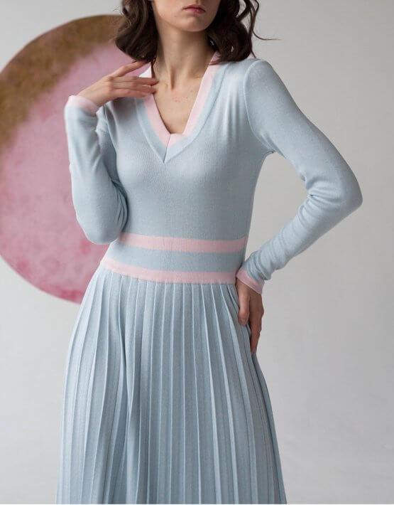 Платье плиссе из трикотажа NBL_09-PTVP, фото 3 - в интеренет магазине KAPSULA
