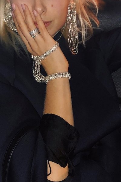 Браслет из бисера SILVER GDV_wrist_bracelet_silver, фото 2 - в интеренет магазине KAPSULA