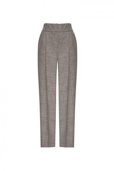 Укороченные брюки из шерсти LKC_1903-BR, фото 1 - в интеренет магазине KAPSULA