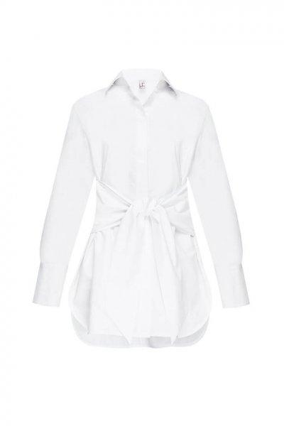 Удлиненная рубашка из хлопка LKC_BLL1903, фото 1 - в интеренет магазине KAPSULA