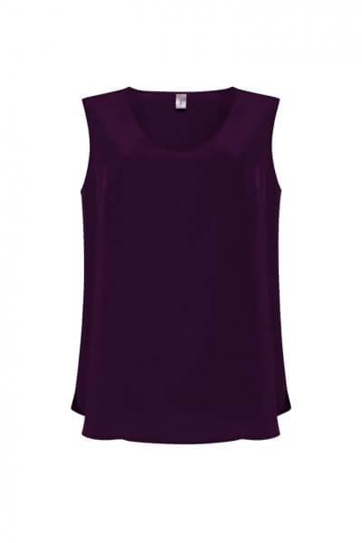 Шелковая блуза без рукавов LKC_BLL1904-violet, фото 1 - в интеренет магазине KAPSULA